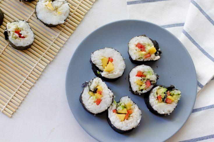 Vegan sushi rolls (easy,healthy, gluten-free)