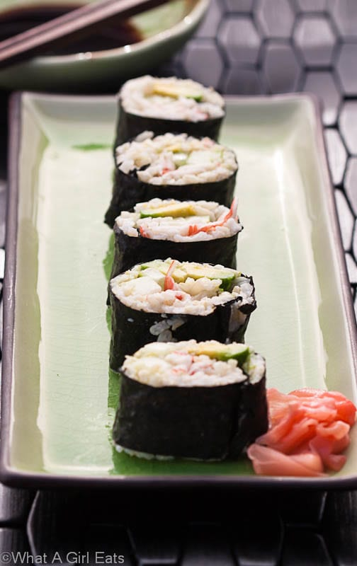 How to Make Easy California Rolls {Sushi without Raw Fish}