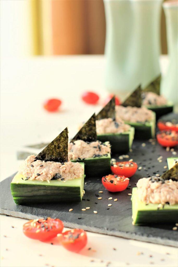 Japanese Style Wasabi Tuna Boats