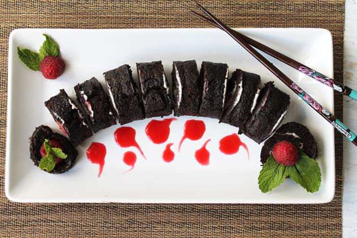 Raspberry Sushi Roll A Chocolate Dessert