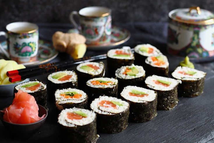 Keto Friendly Sushi Rolls Recipe with Cauliflower is easy and homemade