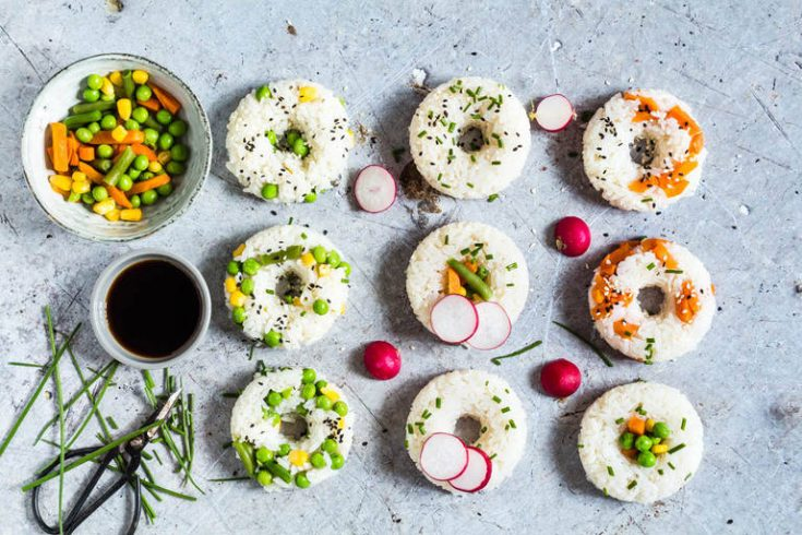 Vegetable Sushi Donuts - Recipes From A Pantry