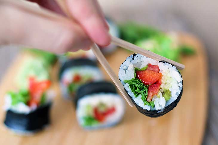 How To Make Vegan Sushi Rolls in 30 minutes!