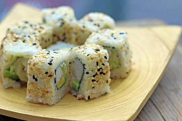 Vegan California Roll   Tofu Uramaki
