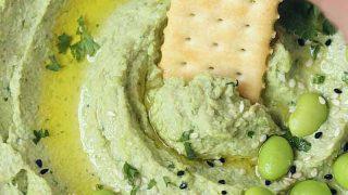 Avocado Edamame Hummus - V + GF Dip - Cooking Carnival