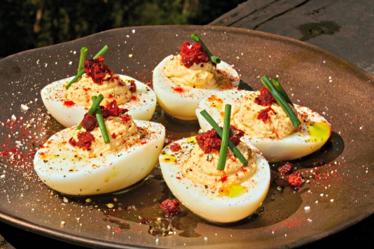 Southwestern Deviled Eggs Recipe with Chorizo Sausage