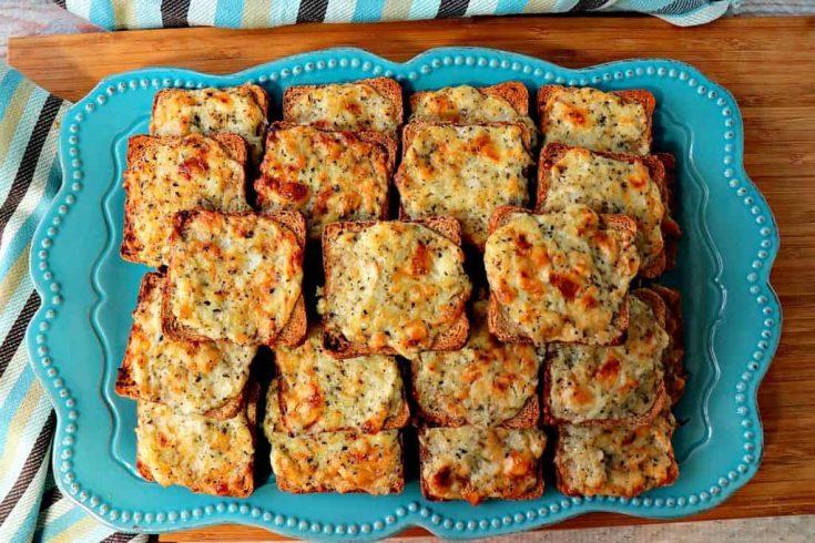 Parmesan Onion Appetizer Squares