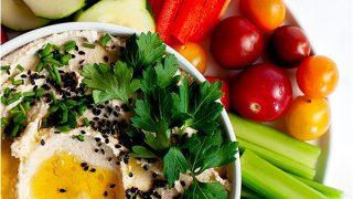 Roasted Cauliflower Hummus (Whole30, Paleo)