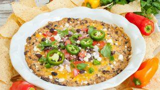 Black Bean Dip (with cream cheese)
