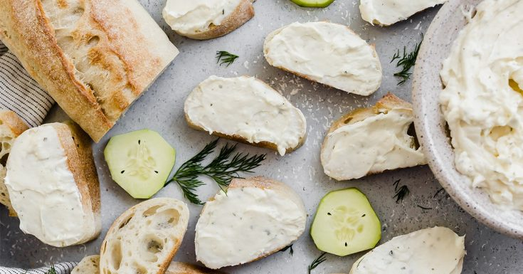 Cucumber and Dill Baguette Sandwiches