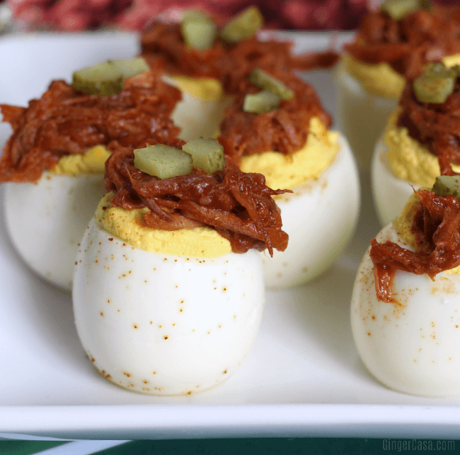 Pulled Pork Deviled Eggs - A Delicious, Winning Appetizer!