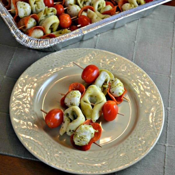 Tortellini Skewers with Pesto - Easy Appetizer Recipe