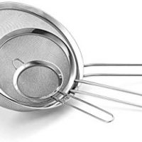 Fine Mesh Stainless Steel Strainer Set of 3