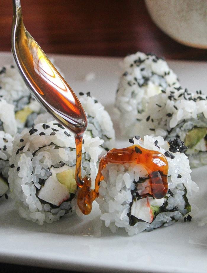 Making sushi at home -- eel sauce