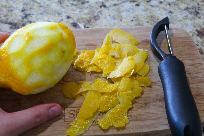 Lemons zested