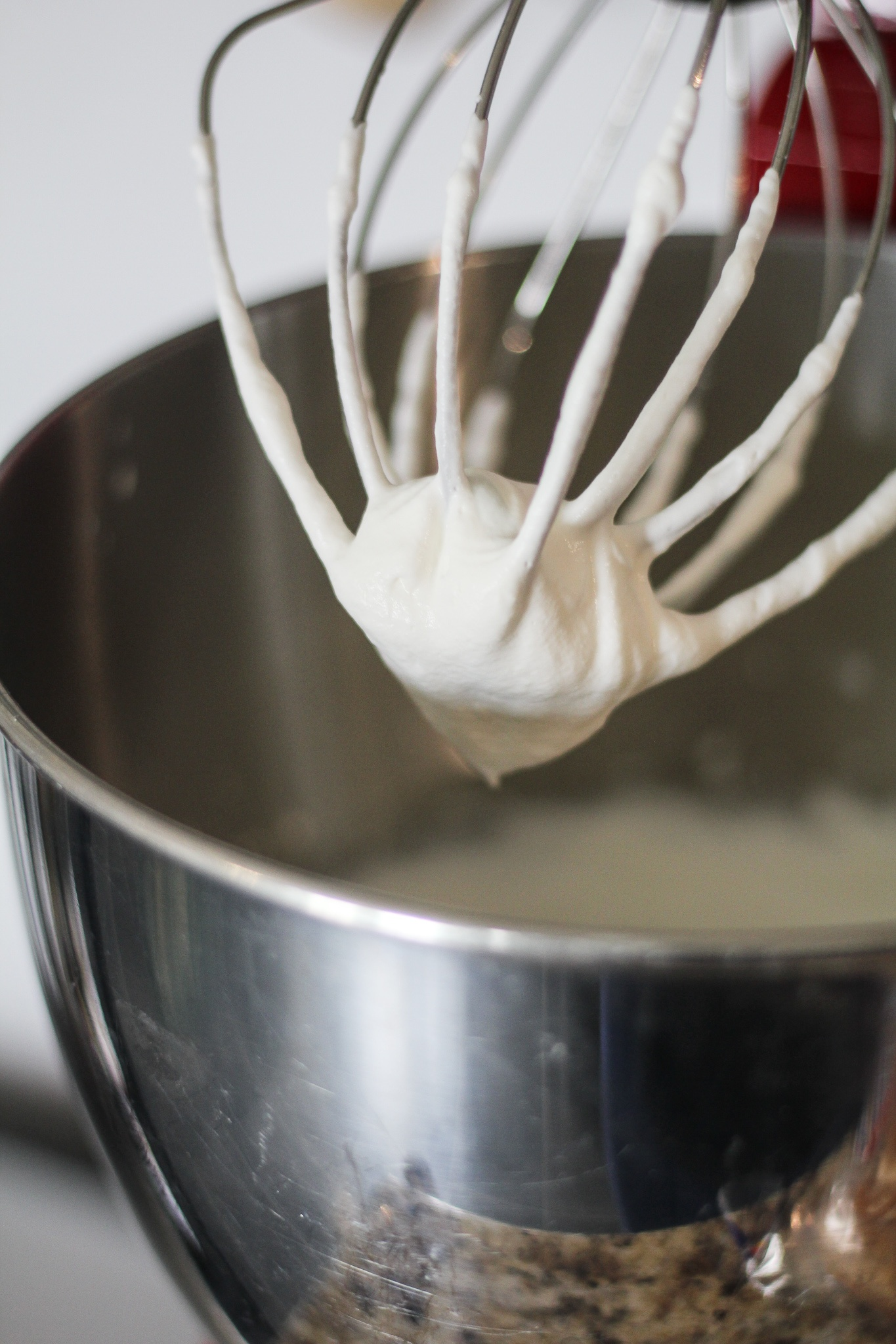 mixer with whipped cream for  Blueberry Flavored No-Churn Coffee Ice Cream