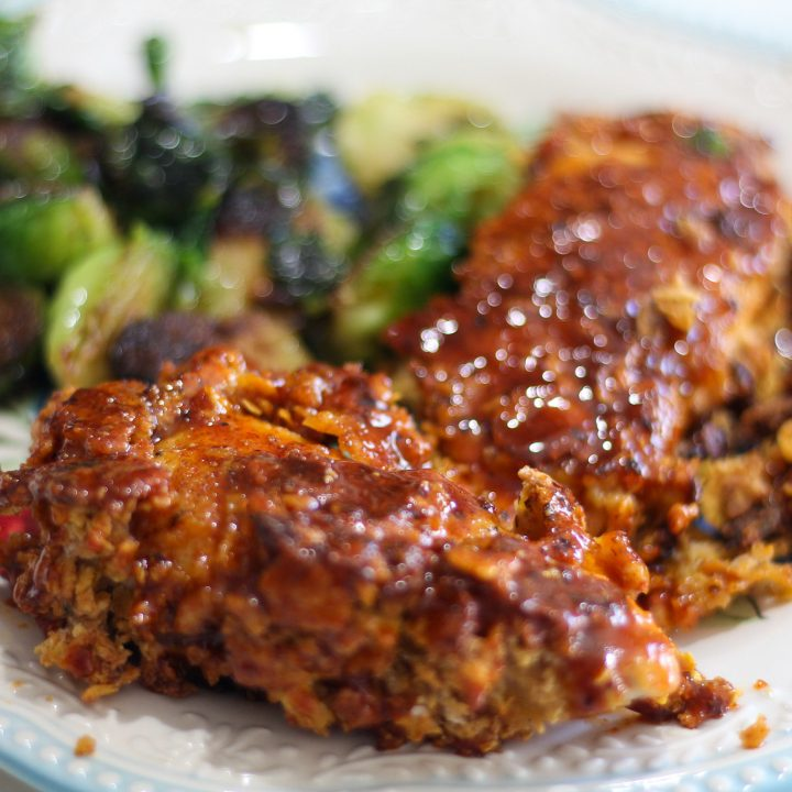 Sweet and Spicy Oven Fried Chicken